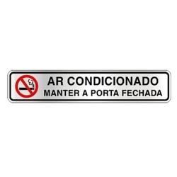 PLACA SINALIZE AR CONDICIONADO - FLUZAO CONSTRUÇÃO