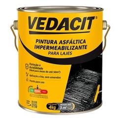 PINTURA ASFÁLTICA VEDACIT GL 4KG - FLUZAO CONSTRUÇÃO