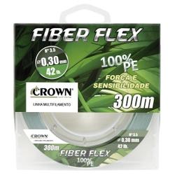 LINHA MULTIFILAMENTO CROWN FIBER FLEX C/ 300M - Focanapesca