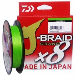 LINHA MULTIFILAMENTO DAIWA J-BRAID GRAND X8 8 FIOS - 135M CHARTREUSE - Focanapesca