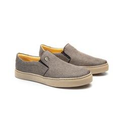 Tênis Slip On Bryant Marrom em Linho - Foco No Sapato