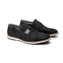Sapato Casual Laurent Preto em Couro - Foco No Sapato