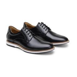 Sapato Casual Leblanc Preto em Couro - Foco No Sapato