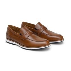 Sapato Casual Martin Whisky em Couro - Foco No Sapato