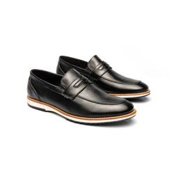 Sapato Casual Martin Preto em Couro - Foco No Sapato