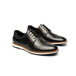 Sapato Casual Armand Preto em Couro - Foco No Sapato