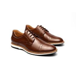 Sapato Casual Armand Marrom em Couro - Foco No Sapato