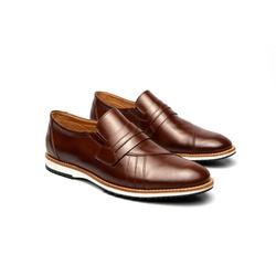 Sapato Casual Richard Marrom em Couro - Foco No Sapato