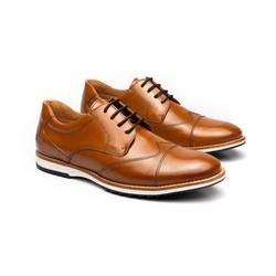 Sapato Casual Bernard Whisky em Couro - Foco No Sapato