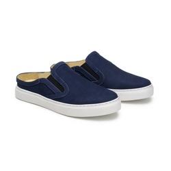 Tênis Mule Clarck Azul Marinho em Couro - Foco No Sapato