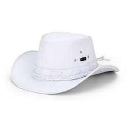 Chapéu Mala Couro Masculino Branco - CP202180 - FRANCABOOTS