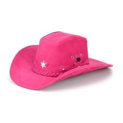 Chapéu Americano Em Couro Legítimo Rosa - CP20218... - FRANCABOOTS