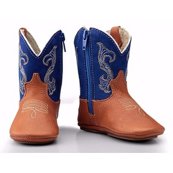 Bota Country Baby Em Couro Cor Azul - CP202123 - FRANCABOOTS