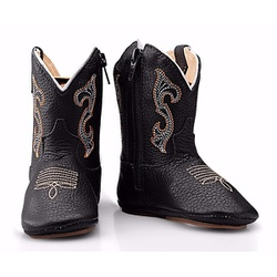 Texana Baby Country Em Couro Preto - CP202120 - FRANCABOOTS