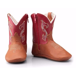 Texana Baby Country Couro Vermelho - CP202122 - FRANCABOOTS