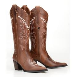 Texana Feminina Cano Bordado E Bico Fino - CP20213 - FRANCABOOTS