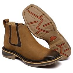 botina texana franca boots solado jump bico quadr... - FRANCABOOTS