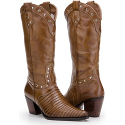 Texana Feminina Em Couro Legítimo Escamada TATU - ... - FRANCABOOTS
