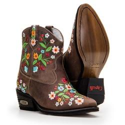 Texana Country Com Bordado Floral Em Couro - CP202... - FRANCABOOTS