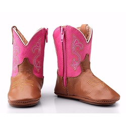 Texana Baby Country Couro pink - cp202230/baby - FRANCABOOTS