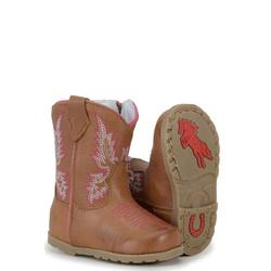 Bota Baby Texana De Couro rosa - CP202236/baby - FRANCABOOTS