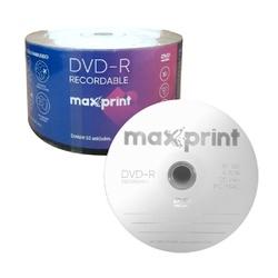 DVD-R MAXPRINT 4.7GB /16X - LOGO C/50UN. - FRANMIDIAS