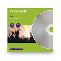 DVD-RW MULTILASER ENVELOPE 120MIN/4.7GB/4X DV064 ... - FRANMIDIAS