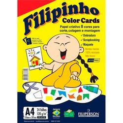 CREATIVE FILIPINHO COLOR CARDS 120GR 24FLS - FRANMIDIAS