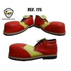 Sapato de Palhaço Vermelho/Amarelo Ref 175 - Cod 1... - FRANPALHAÇO