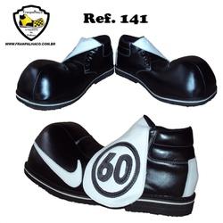 Sapato de Palhaço Preto/Branco 141 - COD 141 - FRANPALHAÇO