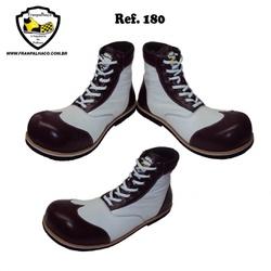 Sapato Palhaço Branco e Bordô Ref 180 - COD 180 - FRANPALHAÇO