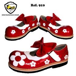 Sapato Palhaço Feminino Vermelho Flores Ref 910 - ... - FRANPALHAÇO