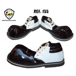 Sapato de Palhaço Preto com Detalhe Branco Ref 155... - FRANPALHAÇO