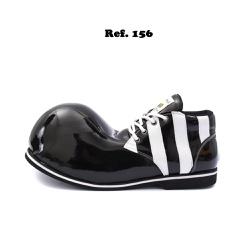 Sapato de Palhaço Preto/Branco Listras - ref. 156 - FRANPALHAÇO