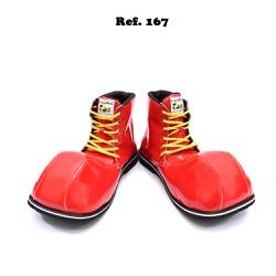 Sapato de Palhaço Cano Alto Vermelho Ref 167 - COD... - FRANPALHAÇO