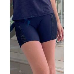 Short Fitness Bolso Dourado Tule em Microfibra