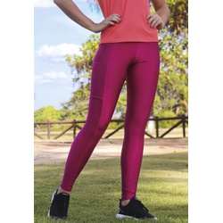 Calça Fitness Recorte com Bolso Brilho em Microfibra