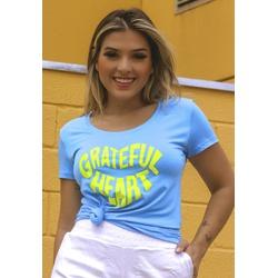 T-Shirt Heart Silk Básica em Viscolycra