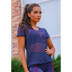 T-Shirt Fitness Tela Básica em Microfibra