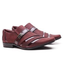 Sapato Social Gofer em Couro Blob Vermelho e Verni... - GOFERCALCADOS