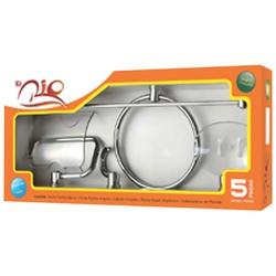 Kit Acessórios Para Banheiro Rio 5 Peças - RIO5PC... - GRUPOCHIQUINHO
