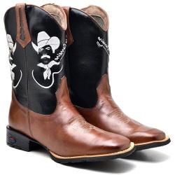 Bota Texana Whisky Tião Carreiro Cano Longo 2502 Country