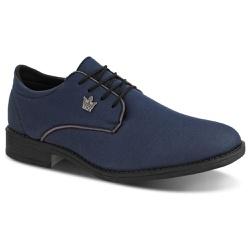 Oxford Casual Masculino Em Lona Azul 401-DB