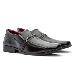 Sapato Social Masculino Freeport GuGi Preto Com Sola Antiderrapante 805-DB