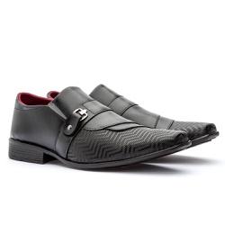 Sapato Social Masculino Freeport GuGi Preto Com Sola Antiderrapante 847-DB