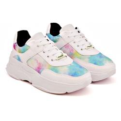 Tênis Dad Sneaker Feminino Tie Dye Buffalo Casual TCKN02-MAR
