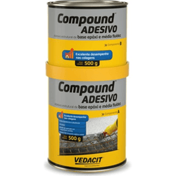 Compound Adesivo de 1kg - Vedacit - Hidráulica Tropeiro