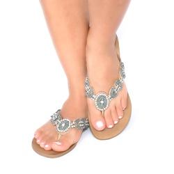 Rasteira Cebedal Bordado Azul - Idarro   Rasteirinhas e Sandálias exclusivas