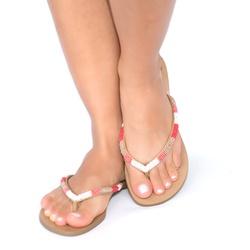 Rasteira Bordado Tons Colorido - Idarro   Rasteirinhas e Sandálias exclusivas