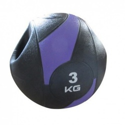 Medicine Ball Com Pegada 3Kg - Live Up - LS3007A/ - INFINITY LOJA